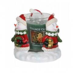 """Подсвечник для формовых  свечей Village Candle """"Снеговик"""" 9см"""