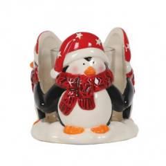 """Подсвечник для формовых свечей Village Candle """"Пингвин"""" 9см"""