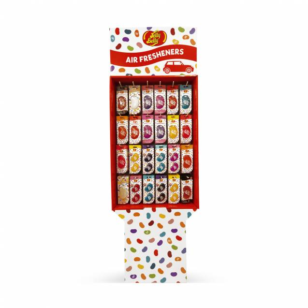Стенд для ароматизаторов Jelly Belly на 24 вида.