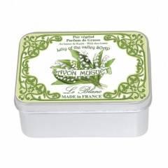 Натуральное мыло в жестяной упаковке Le Blanc Ландыши 100г