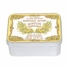Натуральное мыло в жестяной упаковке Le Blanc  Мимоза 100г