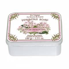 Натуральное мыло в жестяной упаковке Le Blanc Вербена 100г