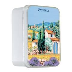 Натуральное мыло в жестяной упаковке Le Blanc  Прованс 1 (Лаванда) 100г