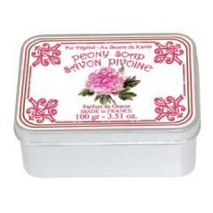 Натуральное мыло в жестяной упаковке Le Blanc Пион 100г