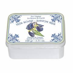 Натуральное мыло в жестяной упаковке Le Blanc  Ирисы 100г