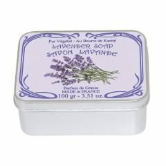 Натуральное мыло в жестяной упаковке Le Blanc  Лаванда 100г