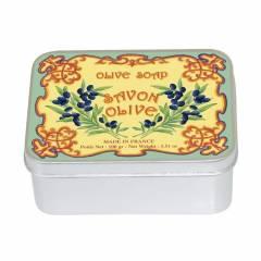 Натуральное мыло в жестяной упаковке Le Blanc  Оливковое 100г