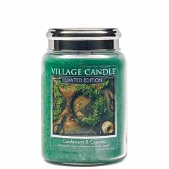 Свеча Village Candle Кардамон и кипарис (время горения до 170ч)