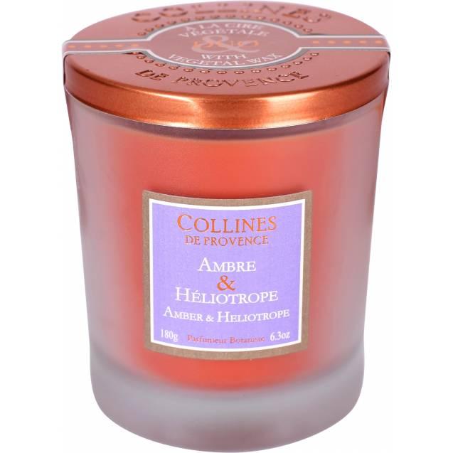 Свеча Collines de Provence Амбра и Гелиотроп Duos Parfumé (время горения 40 часов)