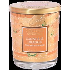 Свеча Collines de Provence Апельсин-корица Christmas (время горения 40 часов)