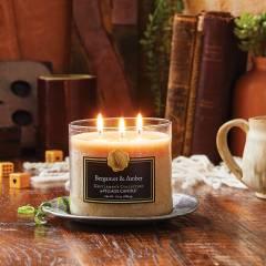 Свеча Village Candle Бергамот и амбра 396г чаша