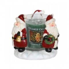 """Подсвечник для формовых  свечей Village Candle """"Дед Мороз"""" 9см"""