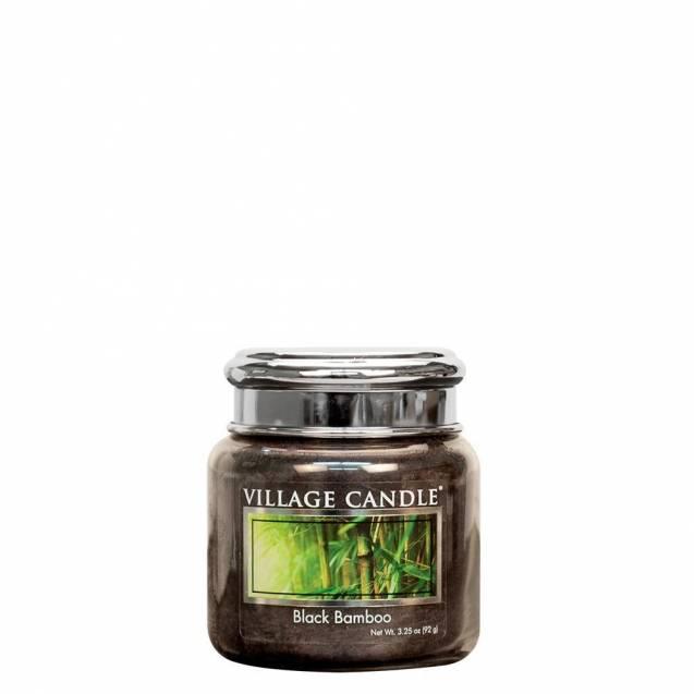 Свеча Village Candle Черный бамбук (время горения до25ч)