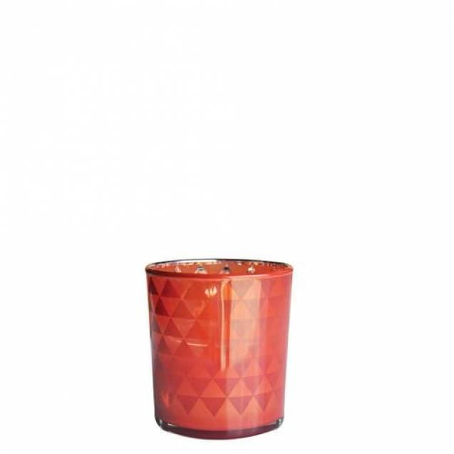 Подсвечник Village Candle Стеклянный блеск Красно-оранжевого 7х8см