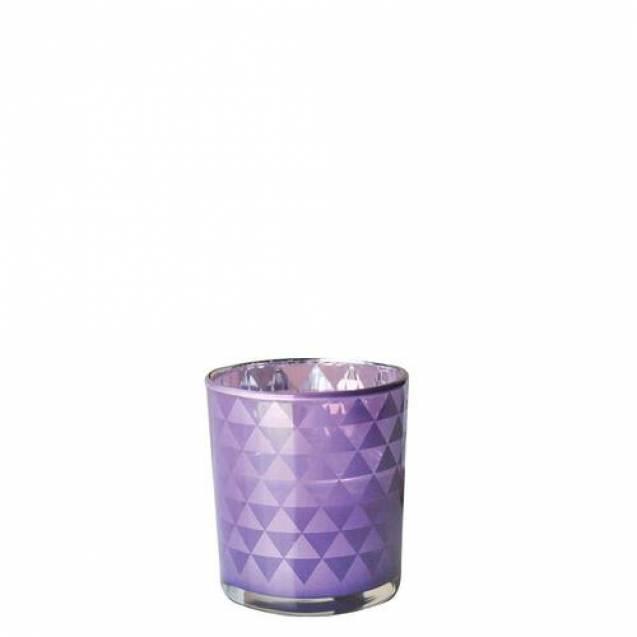 Подсвечник Village Candle Стеклянный блеск Фиолета 7х8см