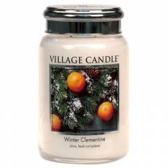 Свеча Village Candle Зимний Клементин (время горения до 170ч)