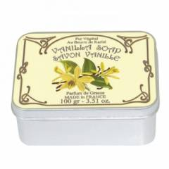 Натуральное мыло в жестяной упаковке Le Blanc  Ваниль 100г