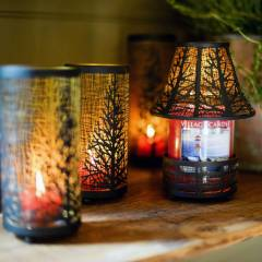 Подсвечник Village Candle Металлические Деревья 24см