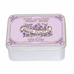 Натуральное мыло в жестяной упаковке Le Blanc  Фиалка 100г