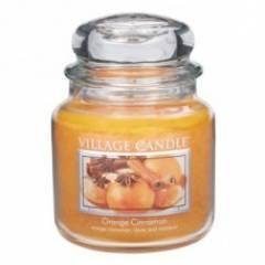 Свеча Village Candle Апельсин корица  (время горения до 105ч)