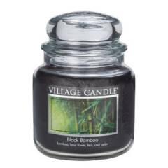 Свеча Village Candle Черный бамбук   (время горения до 105ч)