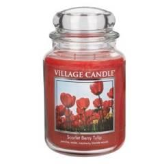 Свеча Village Candle Алые тюльпаны (время горения до 170ч)