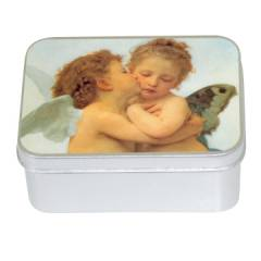 Натуральное мыло в жестяной упаковке Le Blanc  Ангел B (Роза) 100г