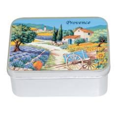 Натуральное мыло  в жестяной упаковке Le Blanc Прованс 2 (Лаванда) 100г