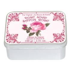 Натуральное мыло в жестяной упаковке Le Blanc  Роза 100г