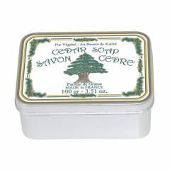 Натуральное мыло в жестяной упаковке Le Blanc Кедр 100г