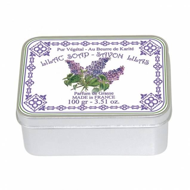 Натуральное мыло в жестяной упаковке Le Blanc  Сирень 100г