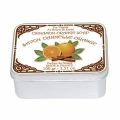 Натуральное мыло в жестяной упаковке Le Blanc Апельсин-Корица 100г