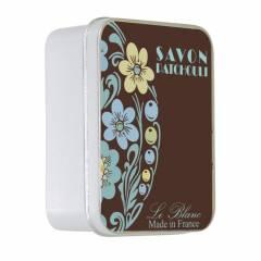 Натуральное мыло в жестяной упаковке Le Blanc  Пачули (PATCHOULI) 100г