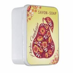 Натуральное мыло в жестяной упаковке Le Blanc  Груша клюква 100г