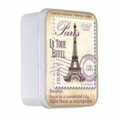 Натуральное мыло в жестяной упаковке Le Blanc  CARTE POSTALE 100г