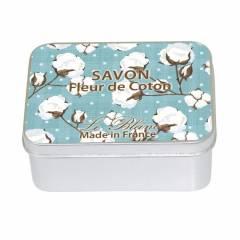 Натуральное мыло в жестяной упаковке Le Blanc FLEUR DE COTON 100г