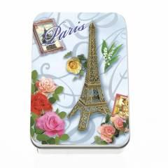Мыло подарочное в жестяной упаковке Le Blanc  Париж (Роза), 150г
