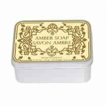 Натуральное мыло в жестяной упаковке Le Blanc  Амбра100г