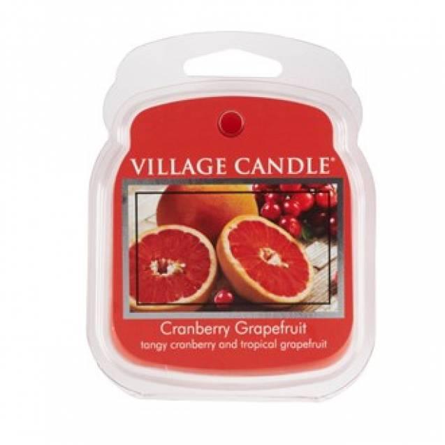 Аромавоск для аромаламп Village Candle Клюква грейпфрут 62г Время плавления: до 8 часов.
